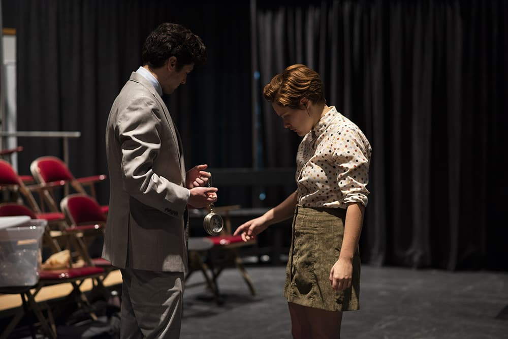 "Actors in ""Everything Goes Widdershins."" Photo by Youngsun Palmer."