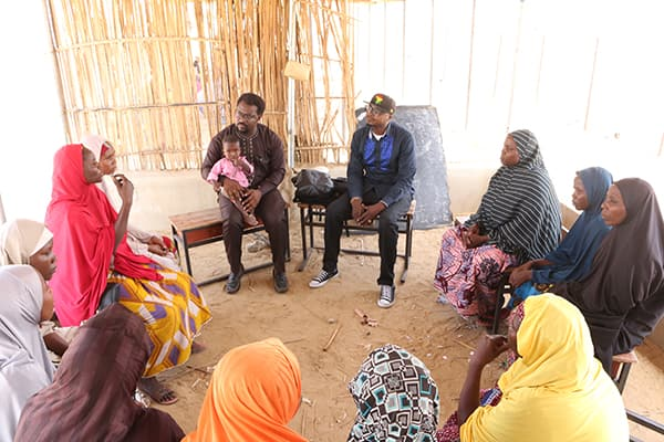 A story circle with internally displaced women