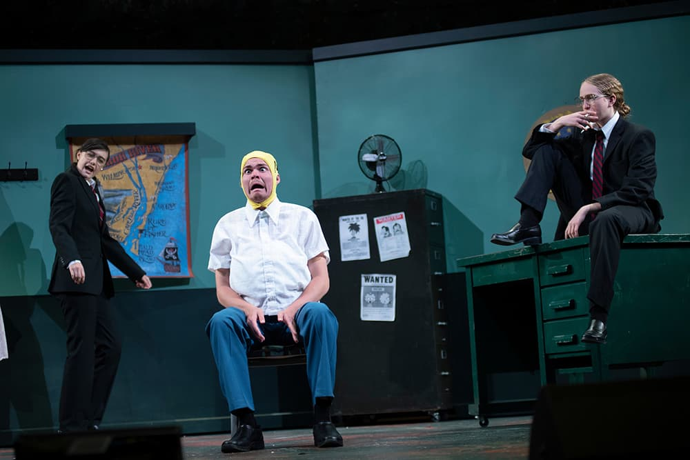 Cast of Mr. Burns, a post-electric play ©Rachel Philipson