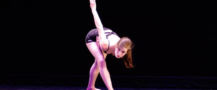 Zoe Jackson '16 dancing on stage