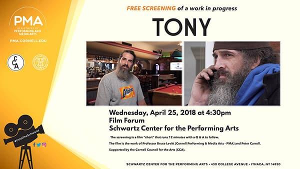 Poster for Tony film screening
