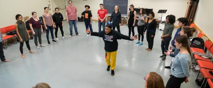 Rhodessa Jones teaching a master class