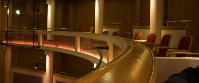 Balcony seats in the Kiplinger Theatre