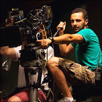 Cinematographer Ivan Rodrigues behind the camera